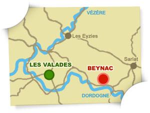 carte camping Beynac