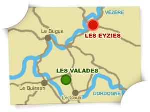 carte camping Les Eyzies