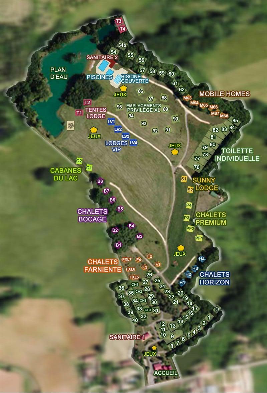 plan camping Dordogne